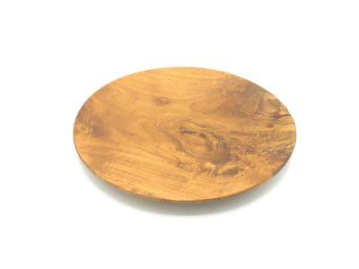 Plato redondo de madera de teca