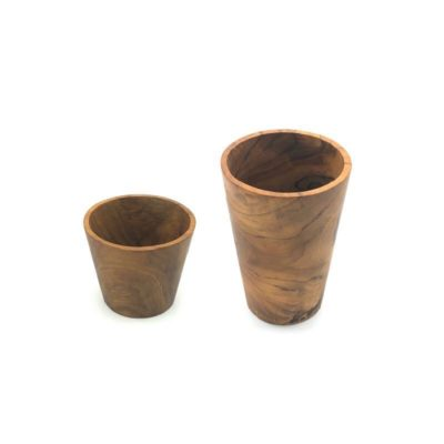 Conjunto de vasos de teca