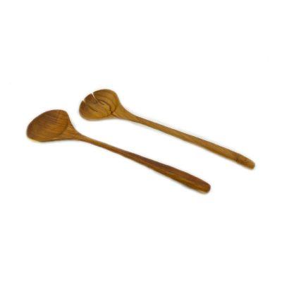 Conjunto de utensilios de cocina de madera de teca