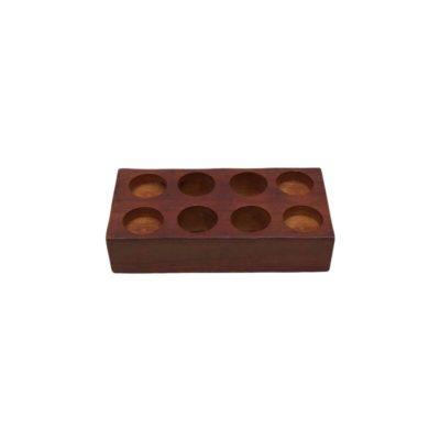 Base 4 madera para toallitas comprimidas