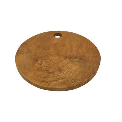 Bandeja de madera de teca redonda de ø 30 cms