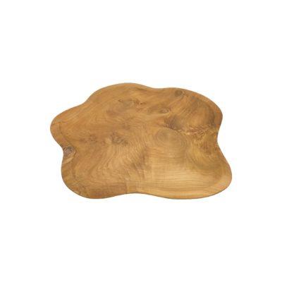 Bandeja irregular de madera de teca de Ø 40cms