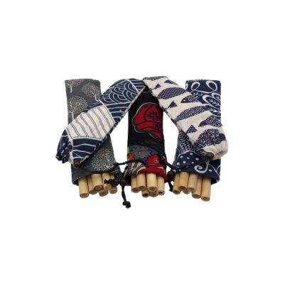 Set de pajitas de bambú