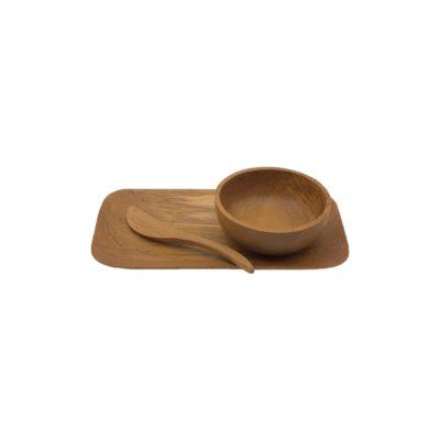 Set desayuno en madera de teca