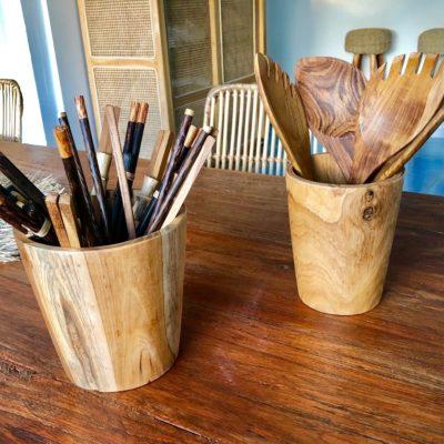 Botes de madera de teca