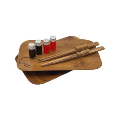 Set Sushi Duo en madera de teca