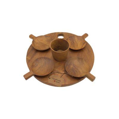 Set tabla de teca para picoteo