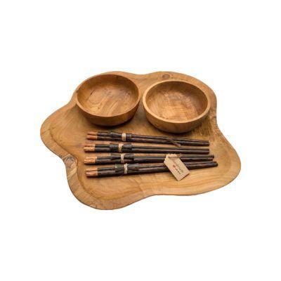Set Sushi XXL en madera de teca