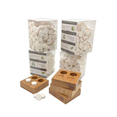 800 toallitas comprimidas + 4 bases bambú 2