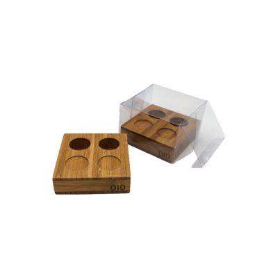 Pack 2 bases bambú para toallitas